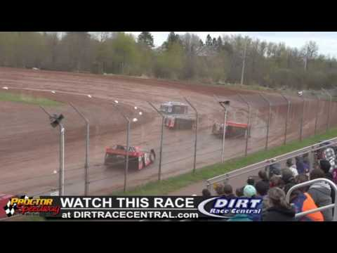 Proctor Speedway 5/15/16 WISSOTA Late Model Heat Race 2