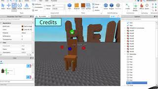 Roblox Studio How To Make A Chair Model Where You Can Sit On