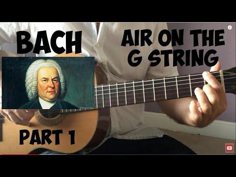Bach - Air on the G string - Guitar tutorial Pt 1