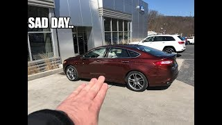 Saying goodbye to the Ford Fusion.. The car that started it all! (crying)