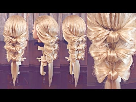 Причёска на резинках - Бантики - Hairstyles by REM