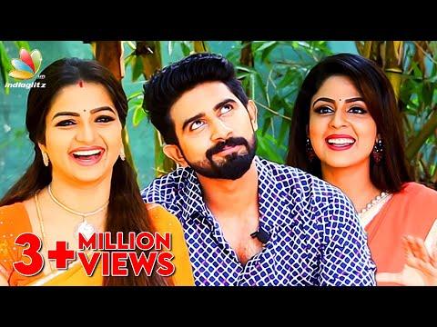 We love men with beards! : Nandhini Serial Actress Interview   Ganga, Janaki, Arun
