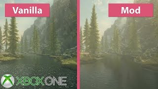 Skyrim – Xbox One Visual Overhaul vs. Vanilla Graphics Mod Comparison