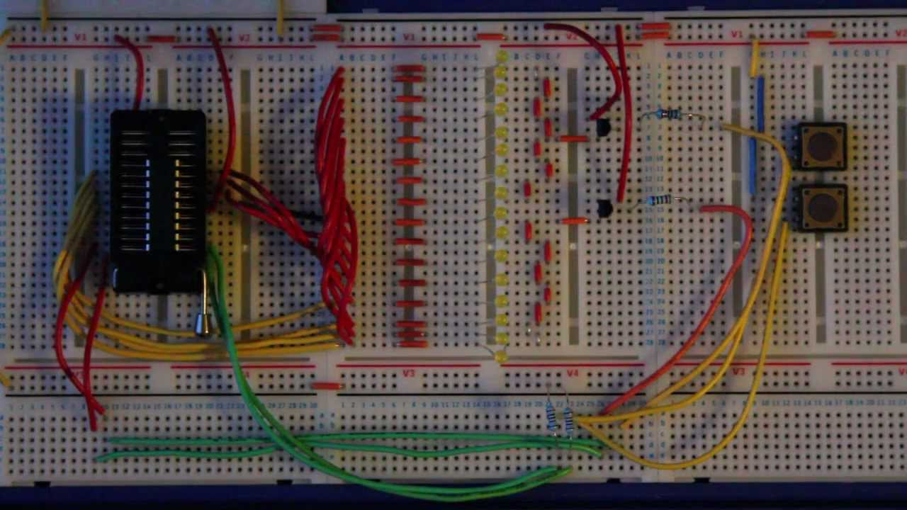 16 Channel Led Chaser Pic Youtube Electronic Circuits For Beginners