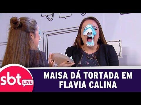SBT Live Com Teleton+ - Maisa Dá Tortada Em Flavia Calina | (09/10/17)