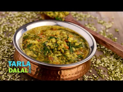 Moong Dal with Spinach (Iron Rich Recipe) by Tarla Dalal