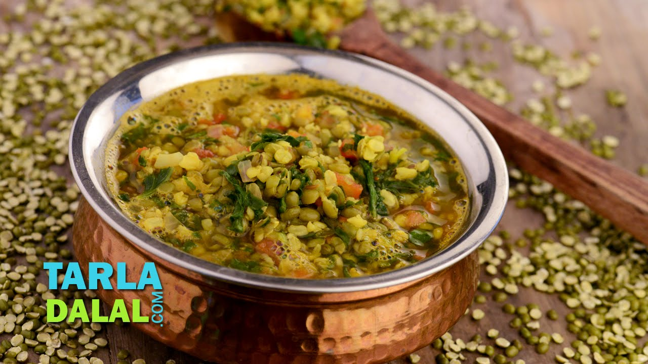 Moong dal with spinach iron rich recipe by tarla dalal youtube forumfinder Choice Image