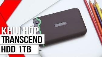 FPT Shop - Khui hộp và trên tay nhanh ổ cứng HDD Transcend 1TB