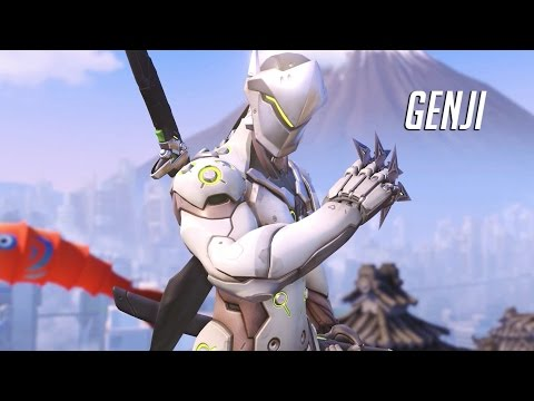 Overwatch Beta PvP 2 Genji Gameplay