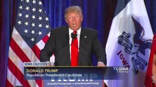 Donald Trump Iowa Caucus Night FULL SPEECH (C-SPAN)