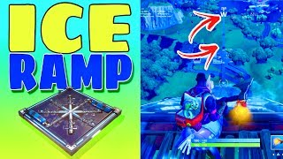 FORTNITE RAMP (MADE WITH ICE TRAPS) - HOW FAR CAN I MAKE IT? ❄️❄️