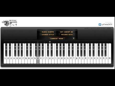 Virtual Piano Easy Piano Song For Beginners Reachharris Youtube