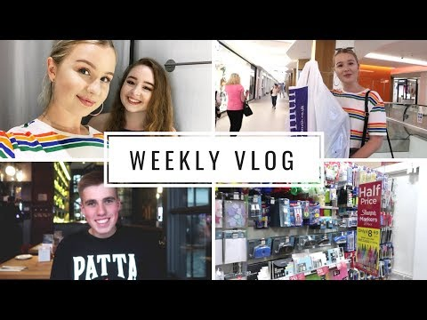 SUMMER VLOG #3 | first day of SITC & back to school shopping!