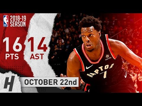 Kyle Lowry Full Highlights Raptors vs Hornets 2018.10.22 - 16 Pts, 14 Assists!