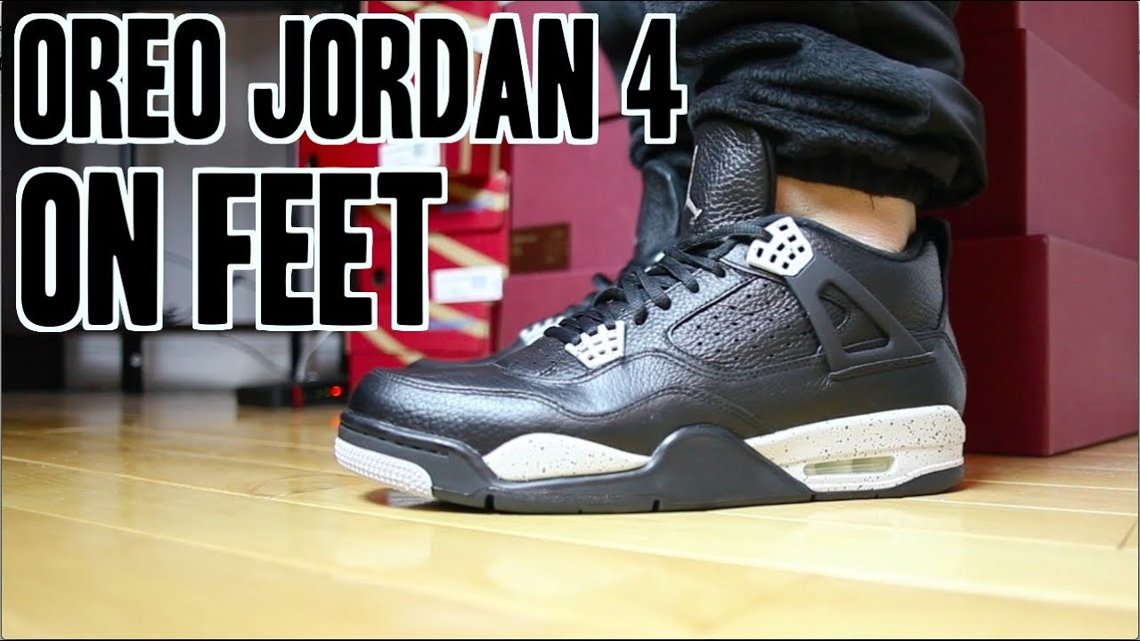 save off 2caa7 cf972 ... 2015 Oreo Jordan IV (4) On Feet Review! ...
