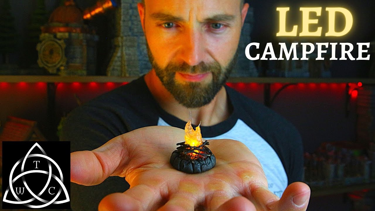 DIY Mini LED Campfire for Tabletop Games