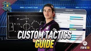 FIFA18 CUSTOM TACTICS GUIDE - 3 IMPORTANT RULES!!