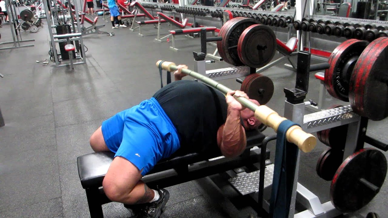Collin Rhodes Earthquake Bar Bench Press 200 Pounds