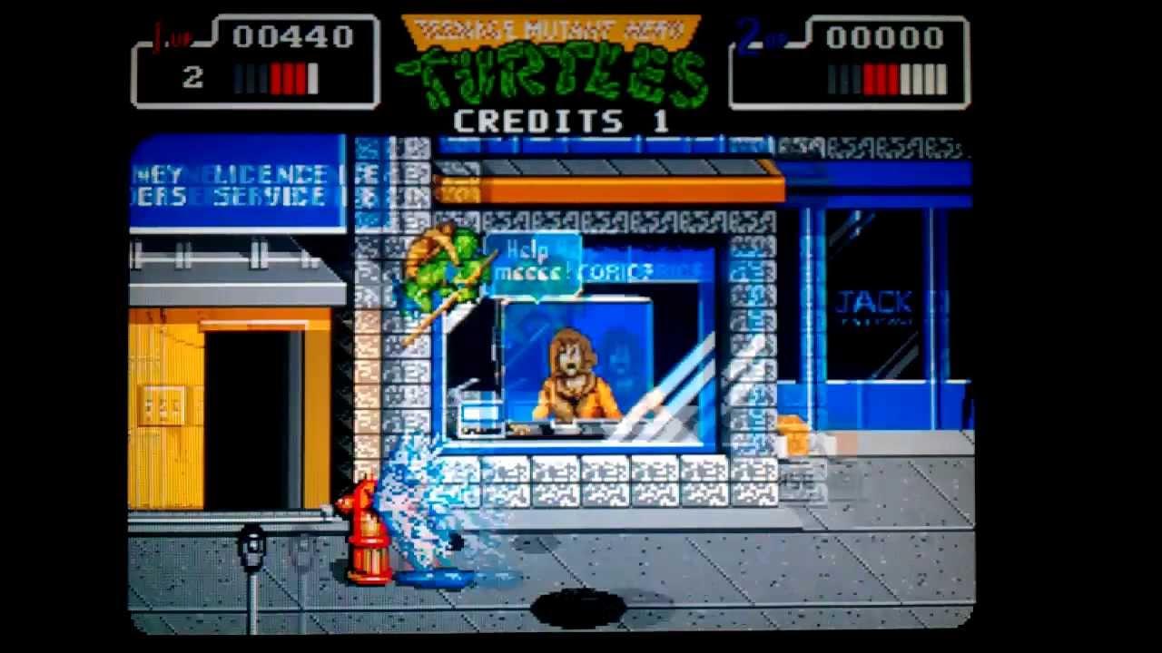 Atari ST Adventures - Teenage Mutant Ninja Turtles 2 The Arcade Game