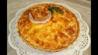 Киш с сёмгой и луком-пореем. Очень вкусный французский пирог!