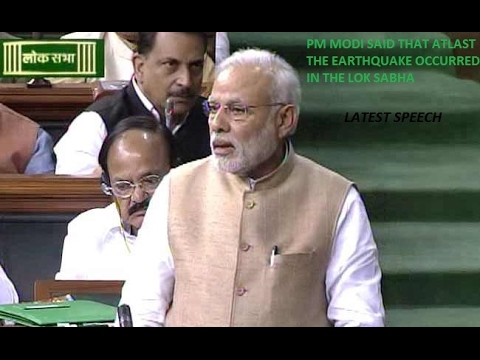 PM Narendra Modi Said That Atlast The EarthQuake Occured In India