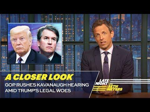 GOP Rushes Kavanaugh Hearing Amid Trump's Legal Woes: A Closer Look