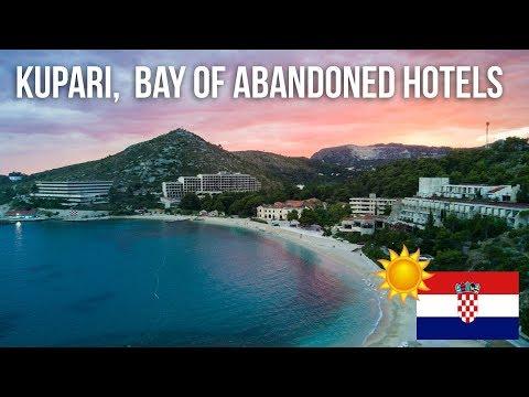012 Kupari, bay of abandoned Hotels with epic sunset