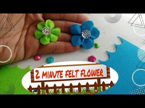 #feltflower #embellishment #feltflower  DIY very simple and easy 2 minute felt flower