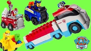PAW PATROL Patroller Truck & IONIX JR. Building Set