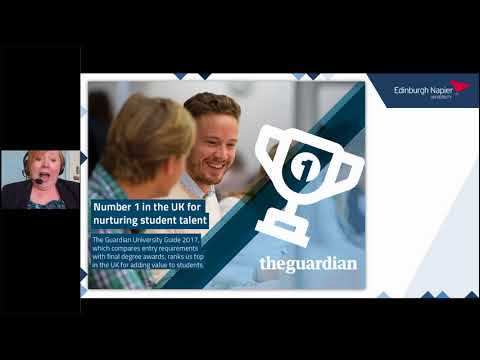 Edinburgh Napier University MSc Business Management Webinar - May 2018
