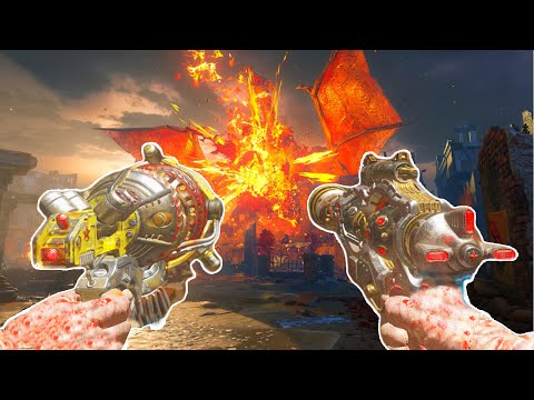 "BLACK OPS 3 ZOMBIES ""GOROD KROVI"" EASTER EGG SOLO BOSS FIGHT COMPLETION! (BO3 Zombies)"
