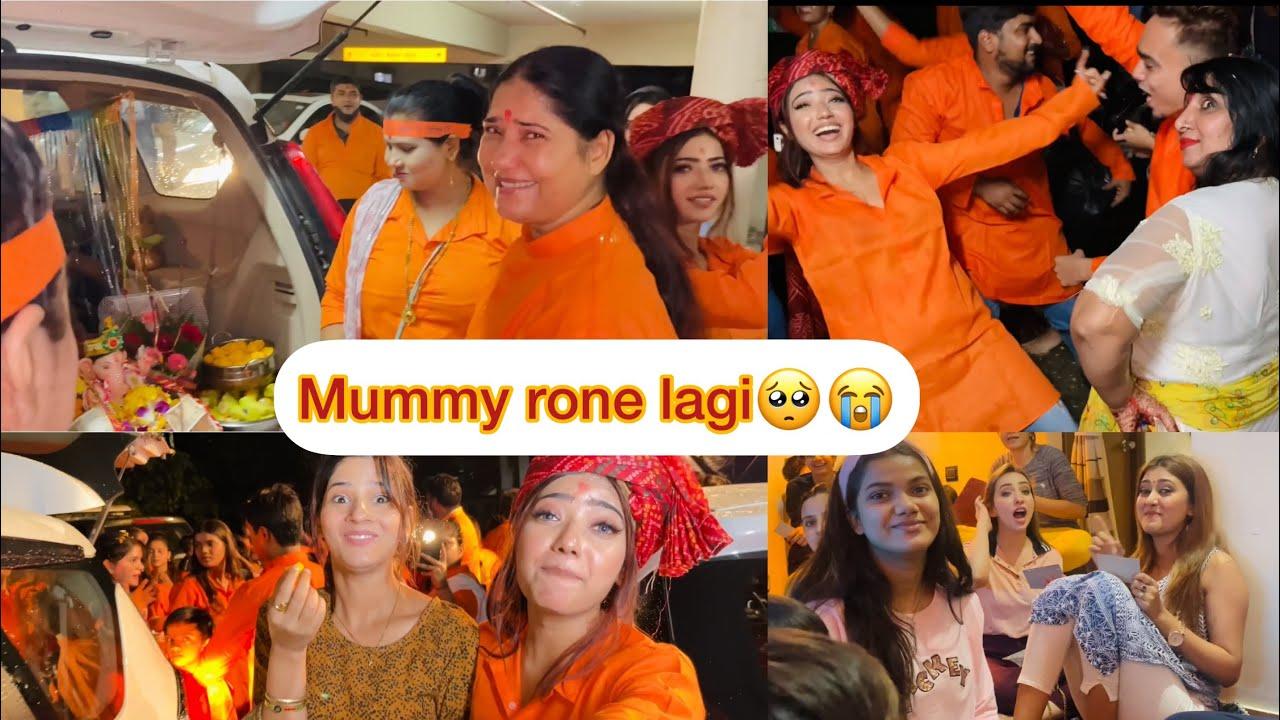 Download Please hume chhod ke mat jao🙏🏻😭 | sabko rona aagaya | ganpati visarjan | muskan sharma | vlog