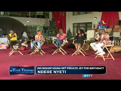 #TTTT: Church buys Bishop Kiuna private jet for 50th birthday?