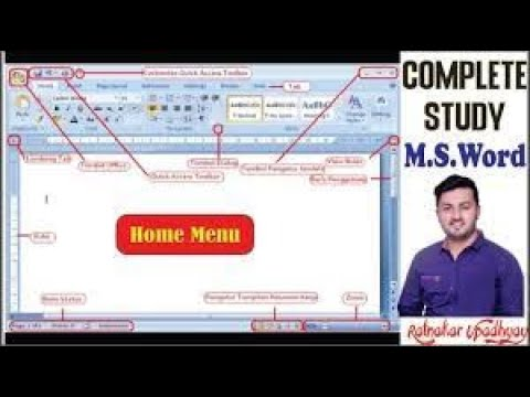 Microsoft Word (Home Menu )Tutorial (हिंदी) - Complete MS-Wo