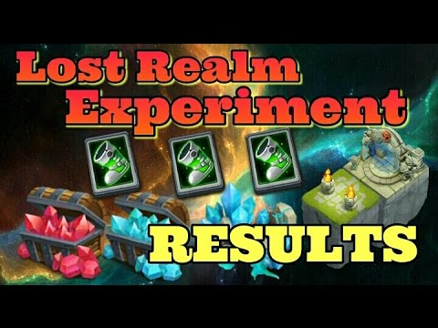 Castle Clash Lost Realm Experiment Finished!