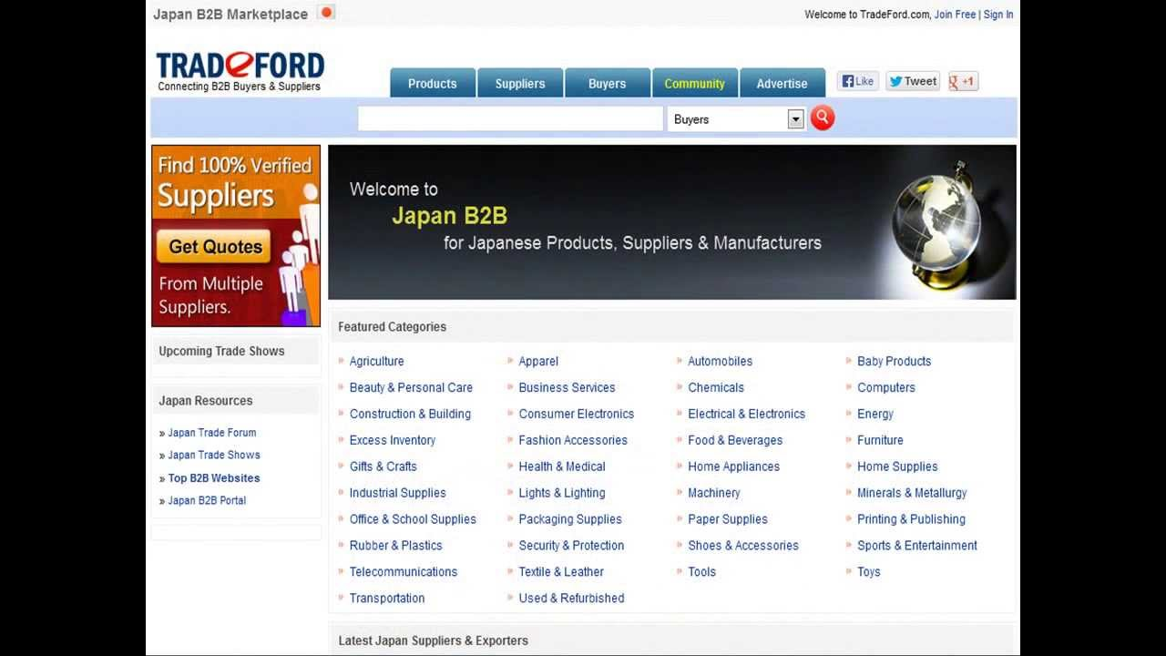 Top B2B Websites and Business Directories in Japan