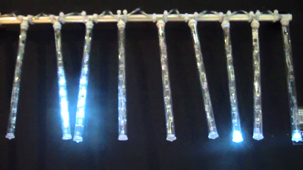 guirlande stalactites lumineuse led blanc froid youtube