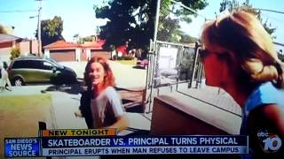 Skateboarder VS. Principal ABC 10 News KGTV