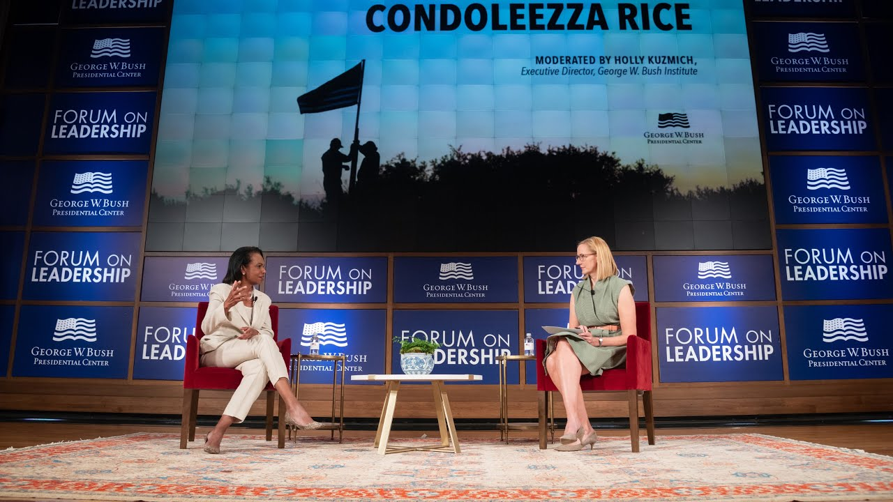 George W. Bush says he wrote in Condoleezza Rice for president in ...