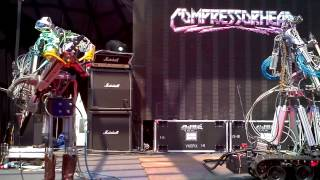 Compressorhead live at The Big Day Out 2013 up close in HD