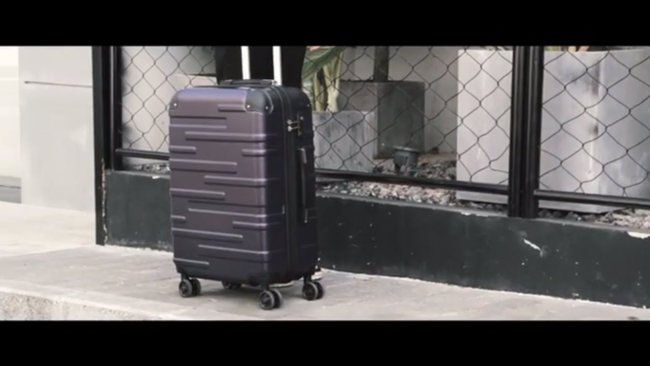 c6bccfd905e6 Coolife Luggage Aluminium Frame Suitcase with TSA Lock 100% PC (M(24in),  Silver)