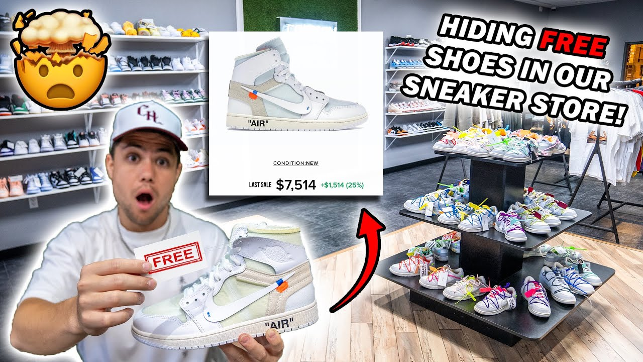 Download HIDING FREE SHOES IN OUR SNEAKER STORE! *Customers Pay NOTHING*