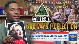 illuminati Programming - Kids React to Presidential Election 6+6+6 Days to Election GMA BUSTED!
