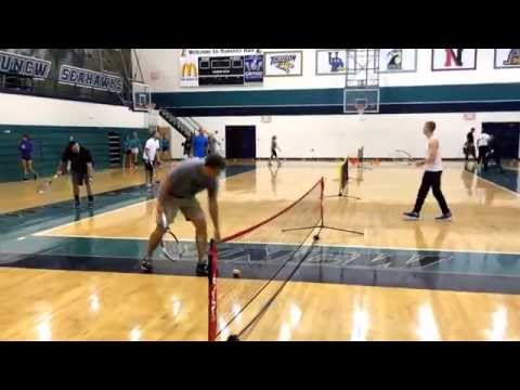 Tennis lesson plan for physical education in the elementary setting