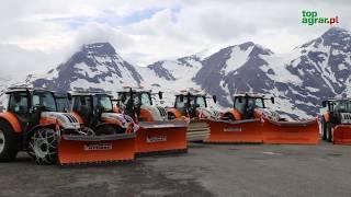 10 ciągników Steyr w akcji!  Śnieżny pokaz  w górach ciągników komunalnych - top agrar Polska