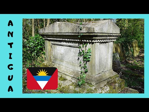 ANTIGUA, the ancient CEMETERY in ST. JOHN'S (the CARIBBEAN)