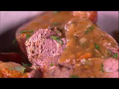 Roasted Pork Shoulder With Pan Gravy Recipe   The Chew