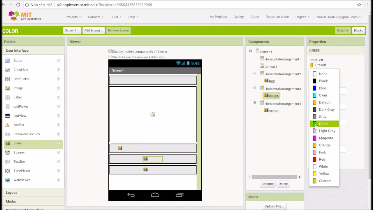 App Inventor easy tutorial for color combination APP - YouTube