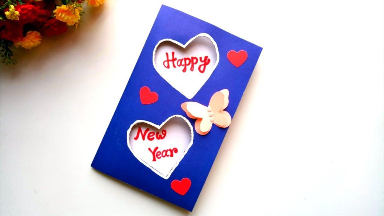 Beautiful Handmade Happy New Year 5 Card Idea / DIY Greeting Cards for  New Year.