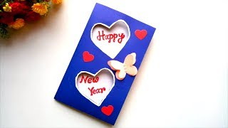 Beautiful Handmade Happy New Year 2019 Card Idea / DIY Greeting Cards for New Year.